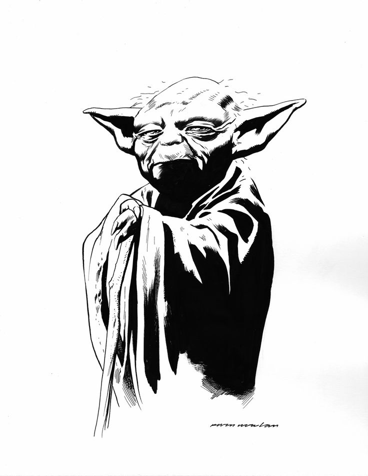 Star Wars - Yoda by Kevin NowlanYoda Silhouette Black
