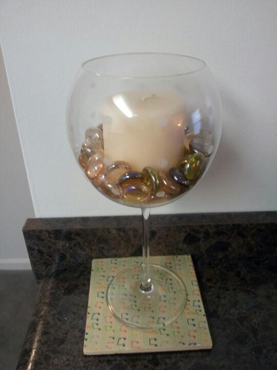 Wine glass centerpiece wine glass centerpieces pinterest for Centerpieces made with wine glasses