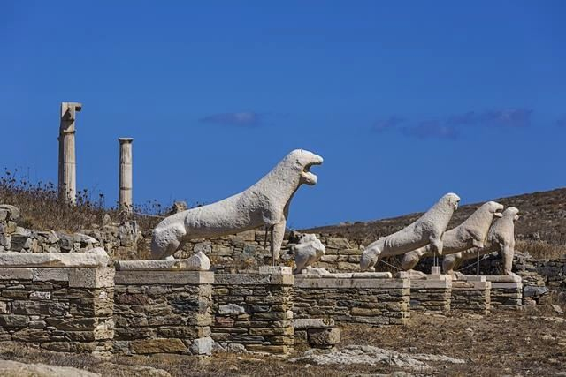 The Terrace of the Lions, delos (δήλος)  Its all Greek ...