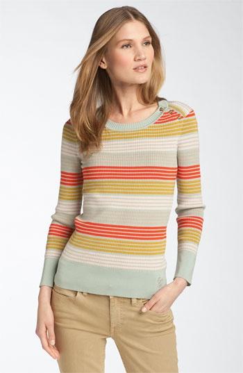 Tory Burch 'Icifera' Print Button Shoulder Sweater   LOVE IT!