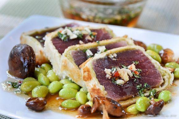Cypress Restaurant Crisp Wasabi Tuna Recipe