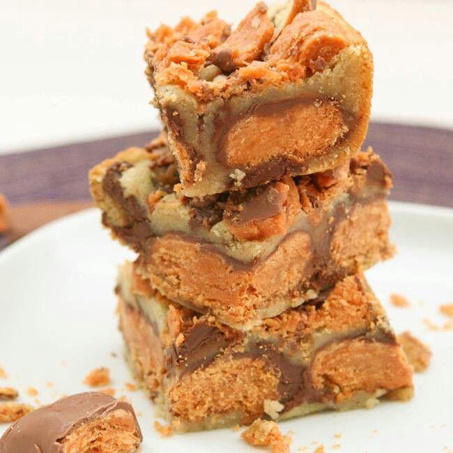 Butterfinger cookie bars | Mmmm...Food | Pinterest