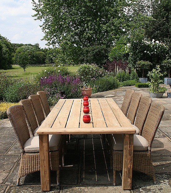 Reclaimed Teak Garden Furniture Outside Pinterest