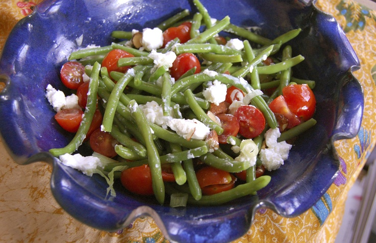 ... Side Dish? Try Green Beans with Goat Cheese, Tomatoes and Almonds