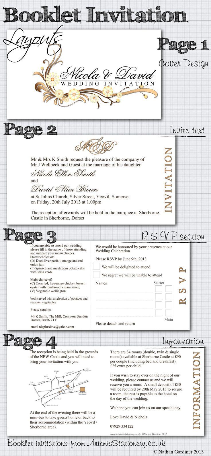 booklet wedding invitation layout wedding ideas pinterest