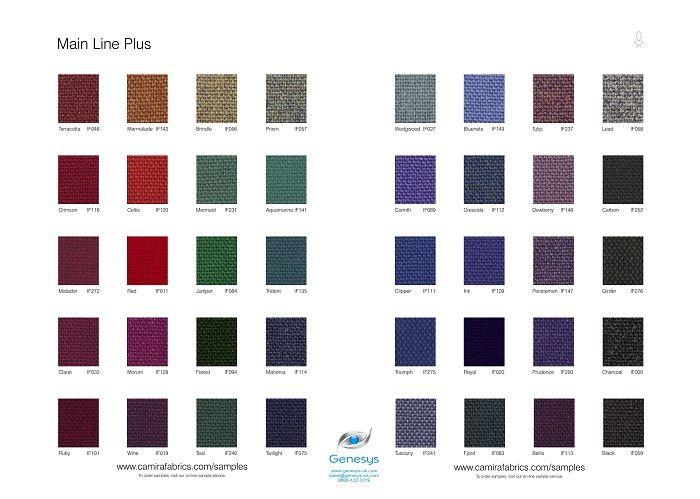 Main Line Plus Fabric Samples http://www.genesys-uk.com/Fabric-Swatch ...