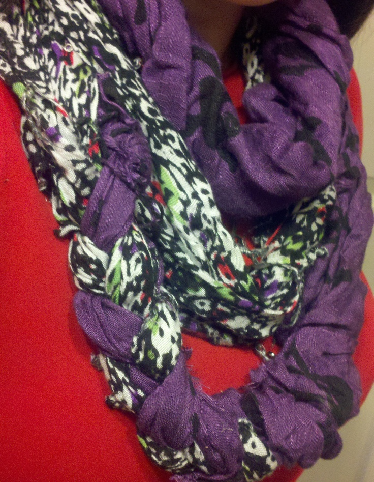 No sew braided scarf..i like the patterns/colors and how big it is ...