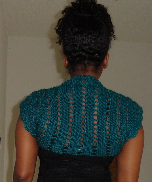 Crochet X Stitch Shrug : ... by Alicia Frieberg on Crochet - Boleros, Shrugs, Vests, or short