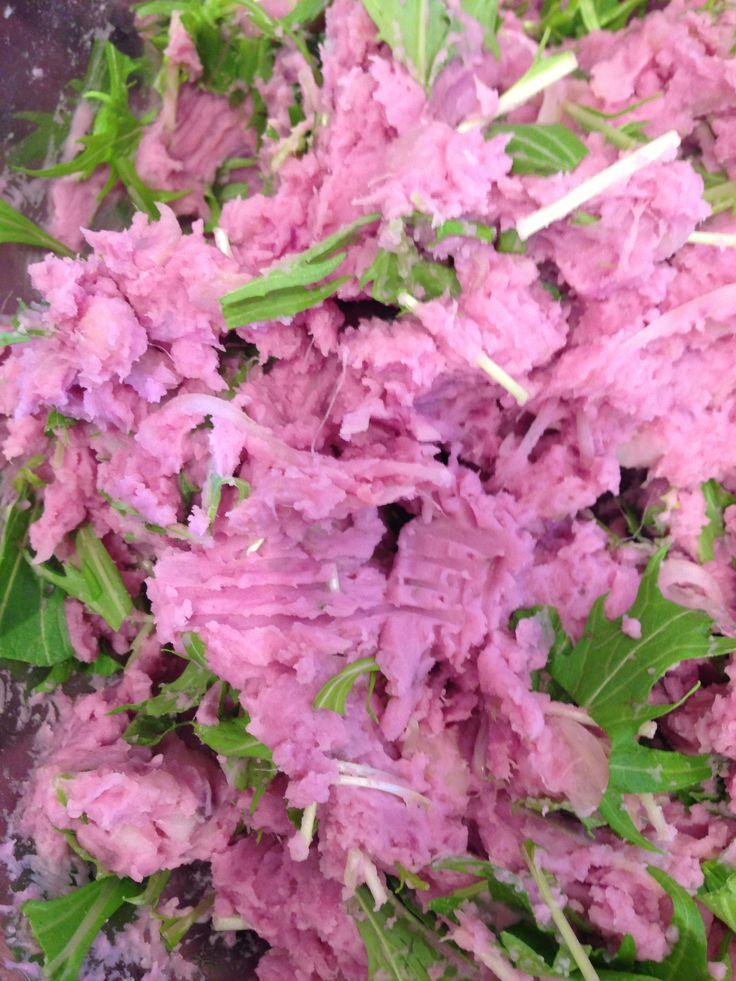 purple sweet potato salad | PICNIC DELI | Pinterest