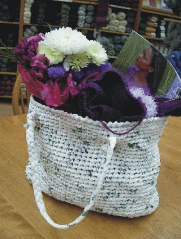 recycled plastic bags into crochet bag. Crochet At Play Pinterest