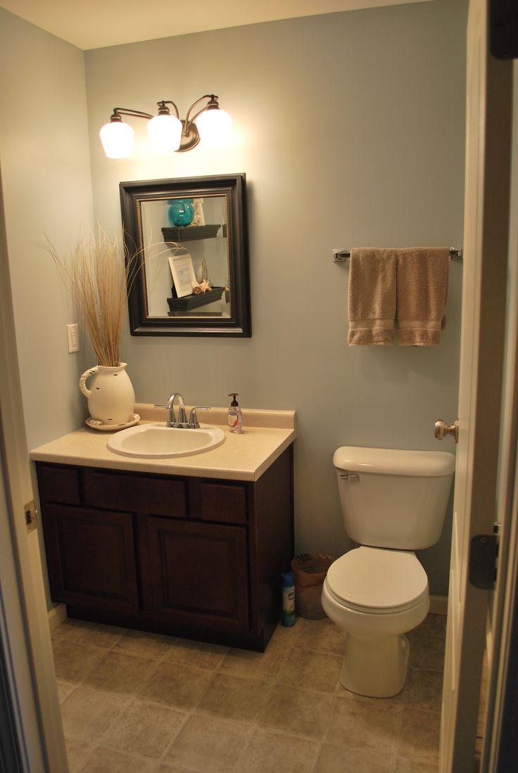 Half bath home sweet home pinterest for Half bathroom photos