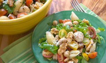 Pasta Salad with Chickpeas, Walnuts and Arugula | Recipe