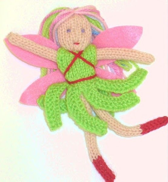 AIRY FAIRY PDF Knitting Pattern Knitted dolls Pinterest