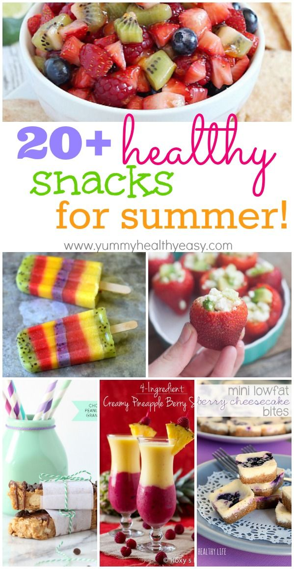 20+ Healthy Snacks for Summer! A great collection of guiltless treats you can enjoy all summer long!