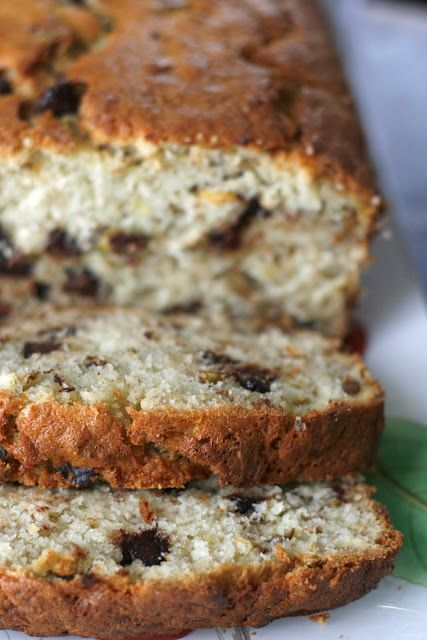 Indigo Scones: Chocolate Brandy-Spiked Pistachio Walnut Banana Bread