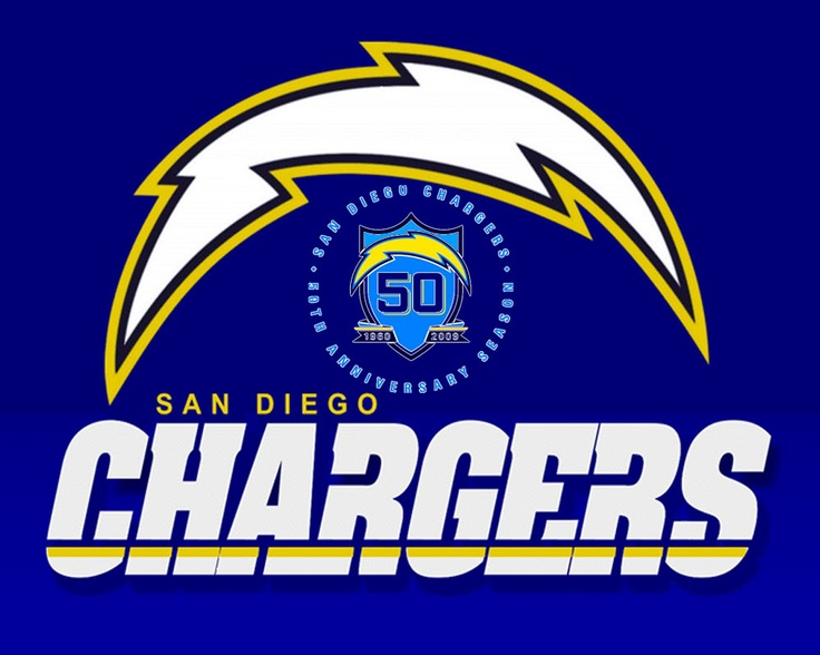 SD Chargers 50th anniversary logo