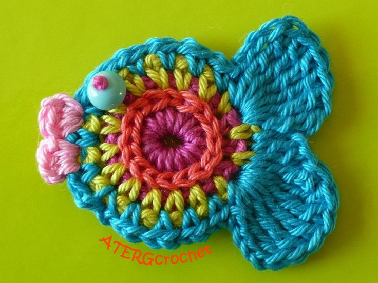 Free Crochet Fish Coaster Pattern : Crochet pattern fish by ATERGcrochet