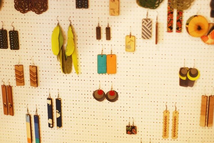 pegboard jewelry display  Craft Show Displays  Pinterest