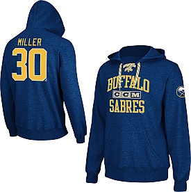 CCM Buffalo Sabres Ryan Miller Lace Up Hoodie - Shop.NHL.com
