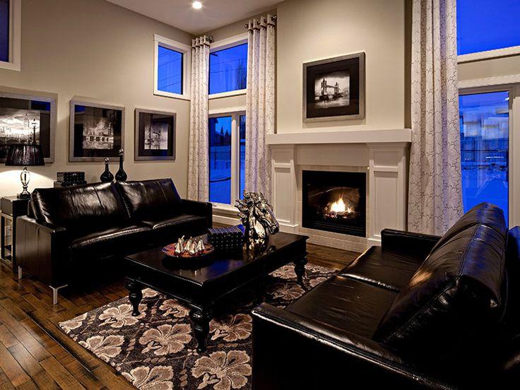 Royal blue and jet black living room home design pinterest