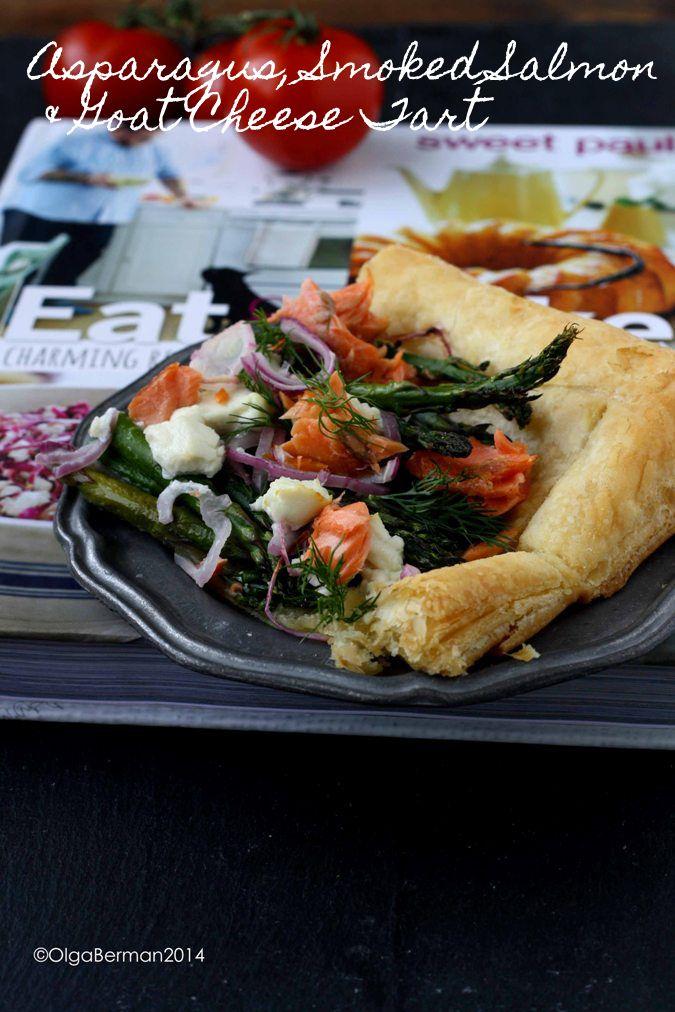 mango amp tomato asparagus smoked salmon amp goat cheese tart adapted ...
