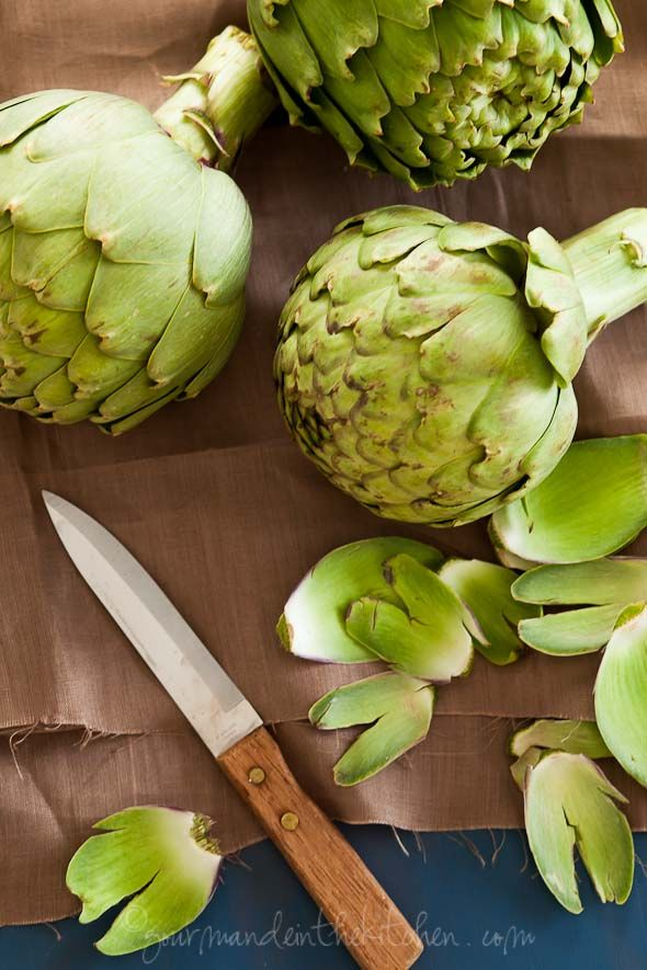 Oven Braised Artichokes with Garlic and Thyme | Vegetables - not just ...