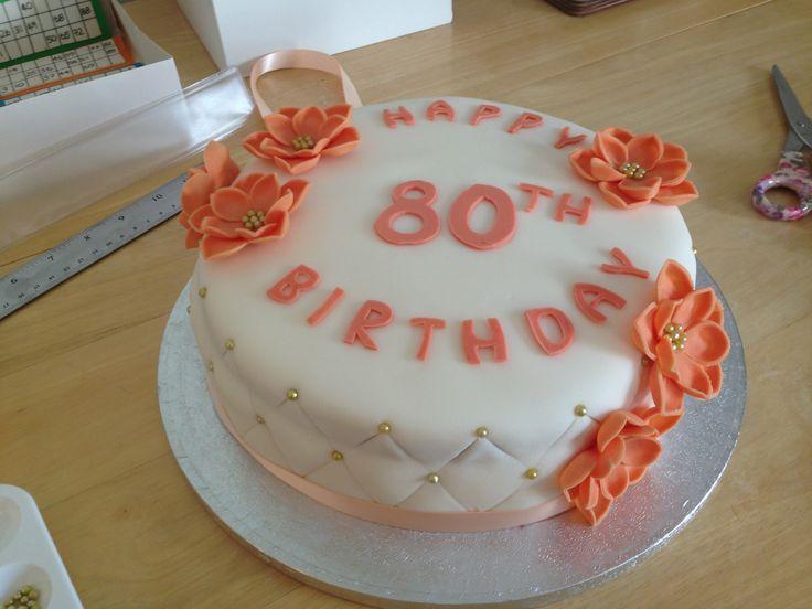 80th Birthday Cake Cake Decorating Ideas and Inspiration ...