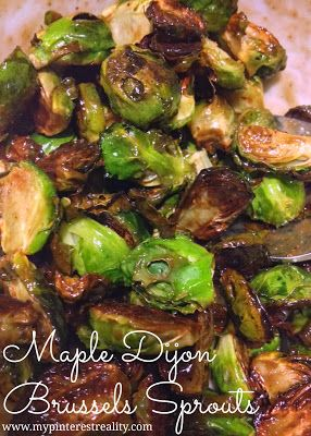 Maple Dijon Brussels Sprouts | Recipes | Pinterest