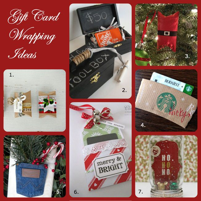 7 Creative Ways To Wrap Gift Cards Christmas Gift Ideas