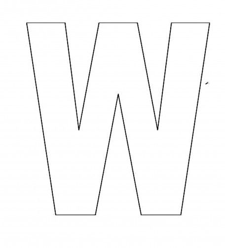 Alphabet Letter W Template For Kids Abc Crafts Pinterest