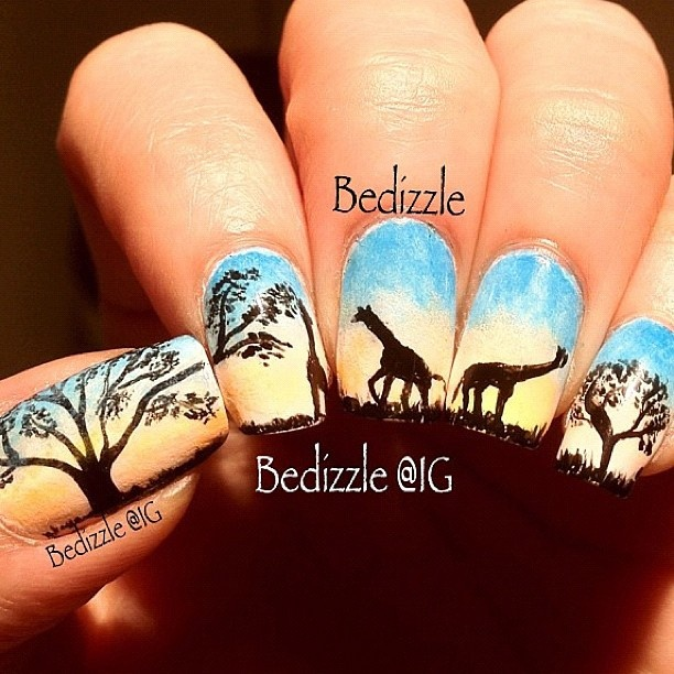 African nail art ledufa fancy african nail designs following inspiration article prinsesfo Images