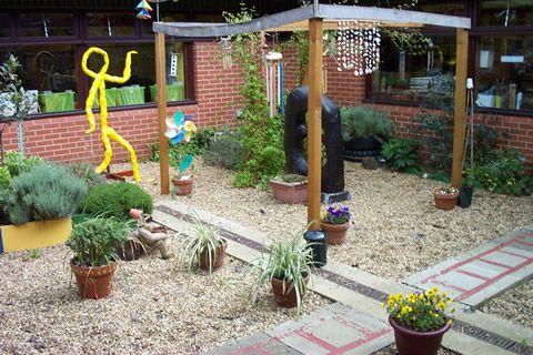 A sensory garden at a primary school for Garden designs for schools