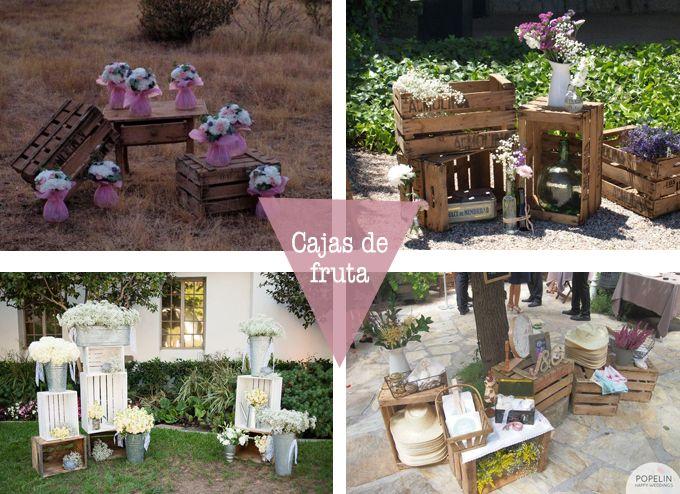 Cajas fruta bodas bodas originales pinterest - Cajas de madera para decorar ...