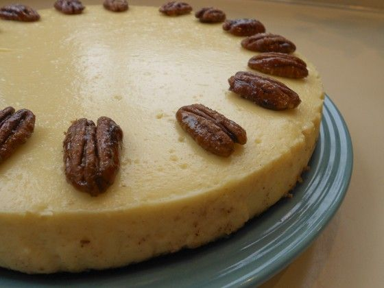 Cheesecake with Pecan Crust (switch sugar for splenda) For the Crust ...
