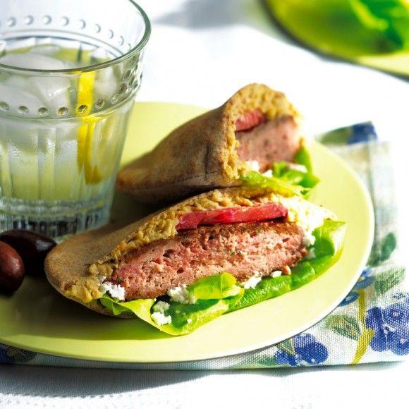 Mediterranean Lamb Burger | *Foodie Greek / Mediterranean | Pinterest