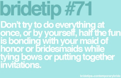 Or your new SIL. Bride Tip for @Ashley Hill.