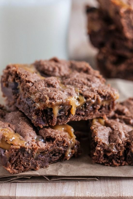 "Caramel Brownies -- described as ""maybe the best brownie I ever had""."