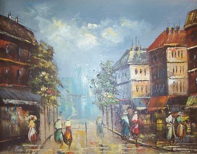 Signed Billings French Impressionist Art Parisian Street Scene Vintage Painting | eBay