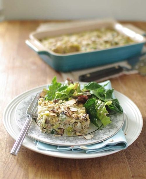 Mushroom Leek and Barley Bake | Quiche/Pie/Casserole | Pinterest