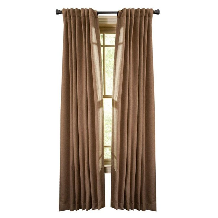... Tweed Back Tab Curtain, 108 in. Length-1601207 at The Home Depot