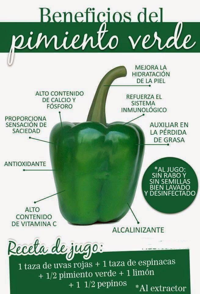Beneficios del pimiento verde