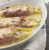belgian endive & bacon au gratin. takes me back to my belgian youth ...