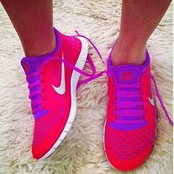 pink & purple nikes