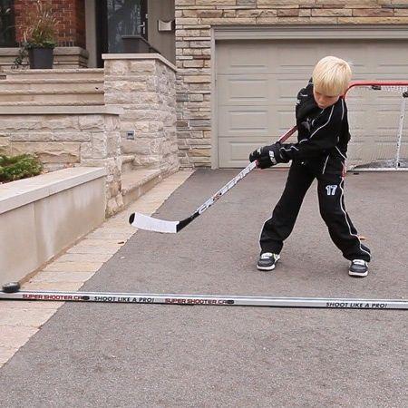 how to make a hockey stickhandling trainer