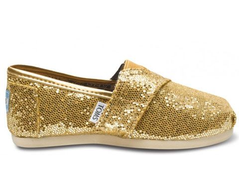 TOMS kids shoes. One for one, and glitter fabulousness