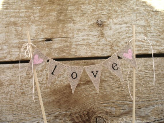 Classic Love Baker Banner Wedding Cake Topper in by atCompanyB, $18.00