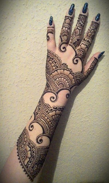 Mehandi Design for Back Hand Side 1