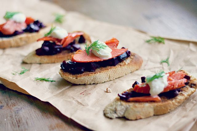 ... crostini with smoked fish and cheese recept yummly smoked salmon