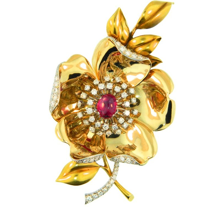 flower brooch fine jewelry pins and brooches pinterest