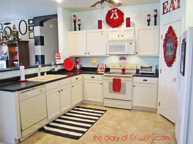 White blue red kitchen kitchen pinterest